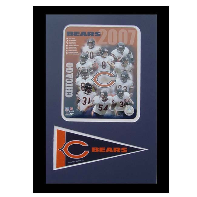 Encore Select Chicago Bears 2007 Frame with Mini Pennant
