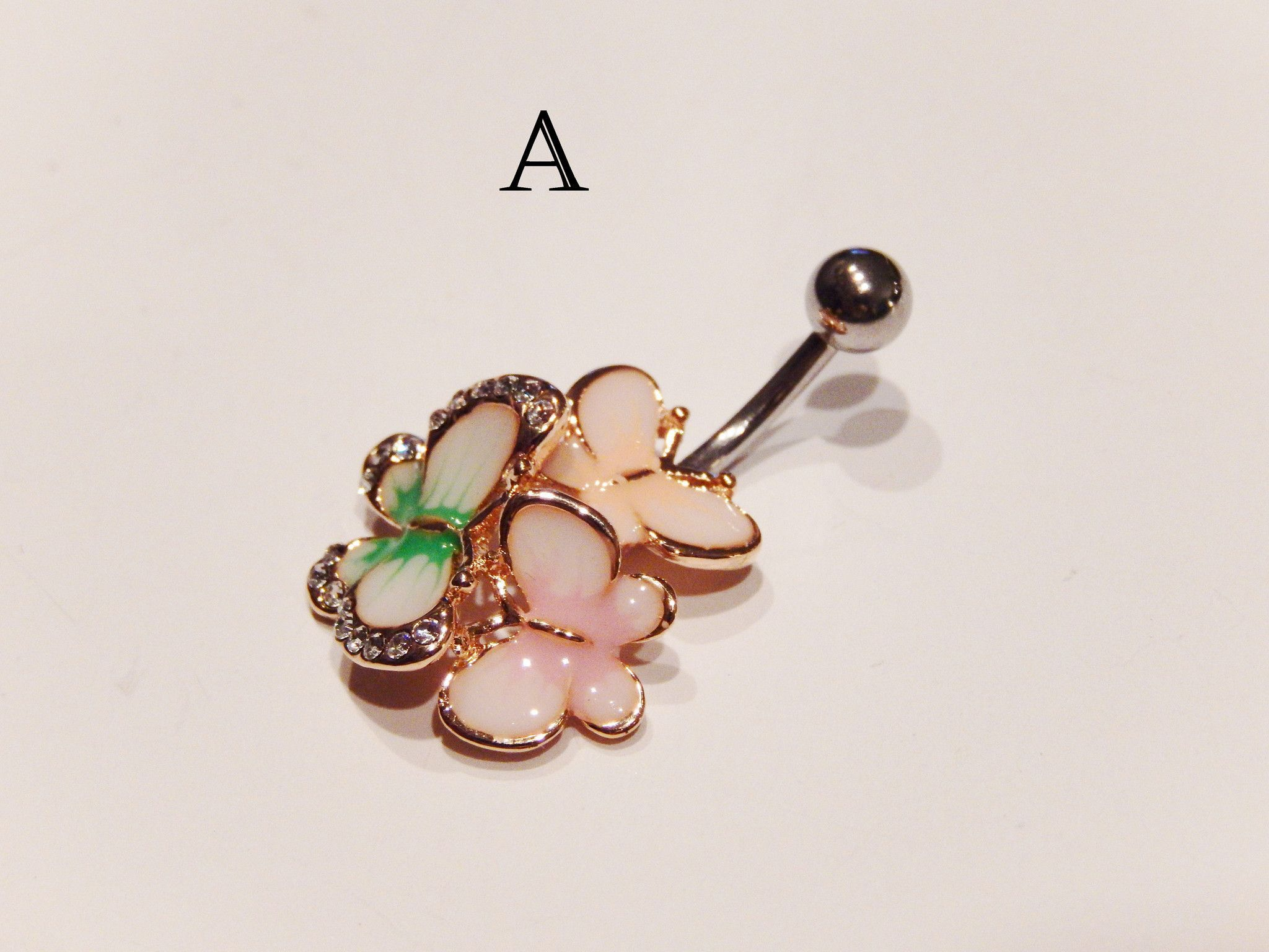 Gold belly piercing jewellery  Enamel Flower Belly Ring Piercing  Navel piercing Steel and Products