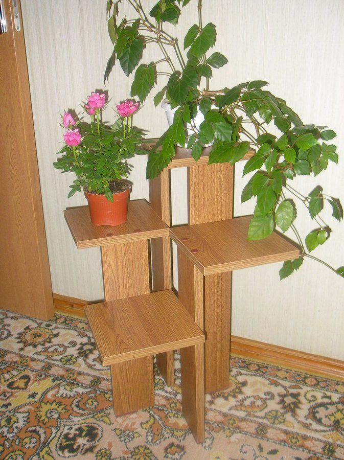 Напольная подставка для цветов своими руками