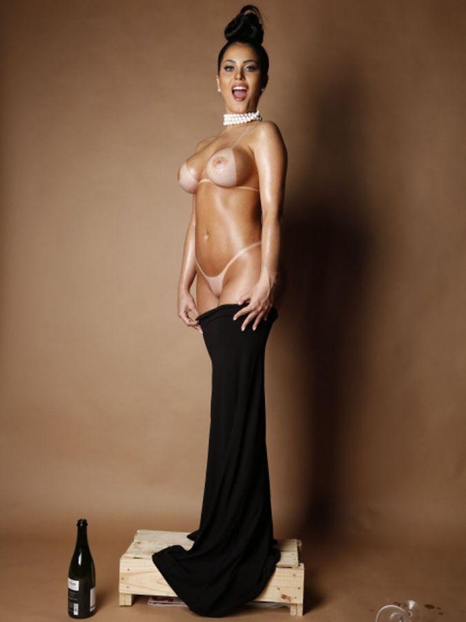 A Successful Dread Claudia Alende Kim Kardashian Nude Paper Shoot