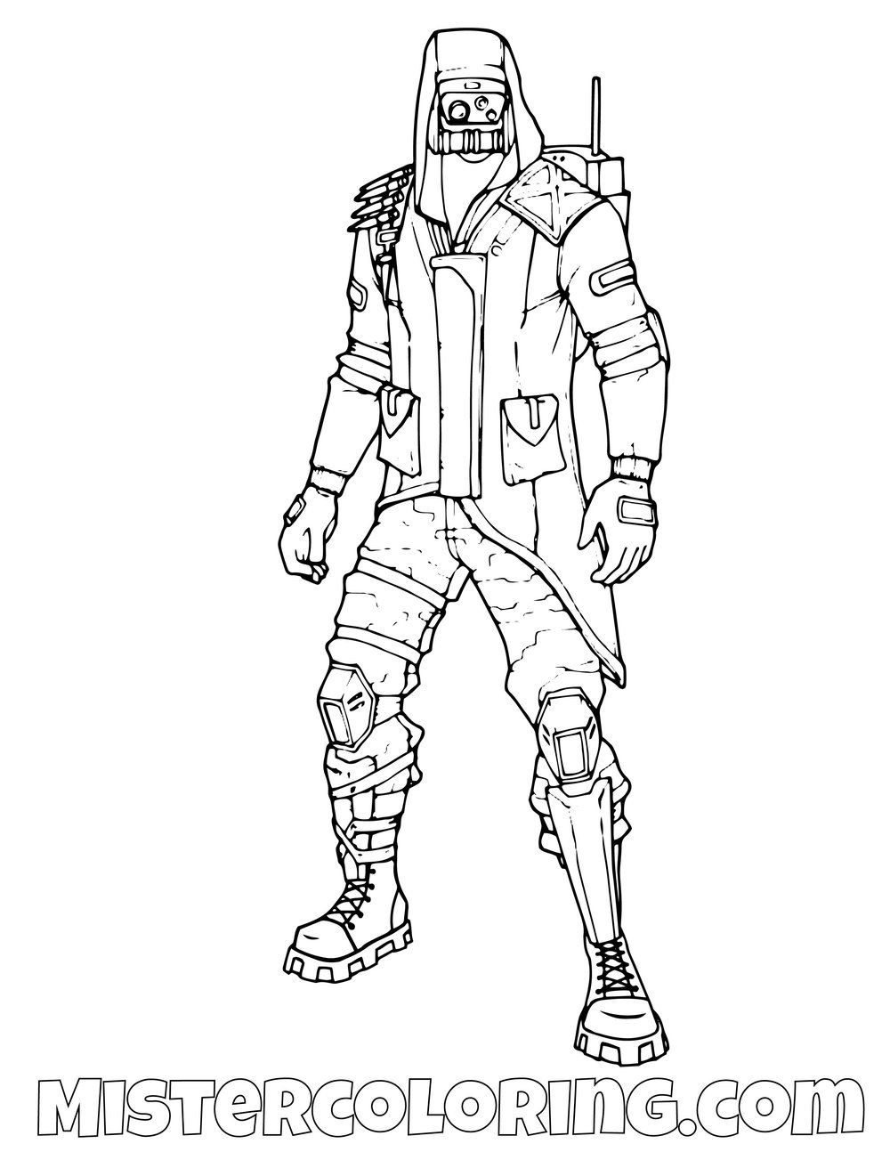 Free Insight Fortnite Coloring Page For Kids Coloring Pages