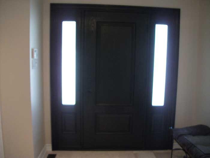 Entry Door With Two Side Lights Fiberglass Single Solid Door With