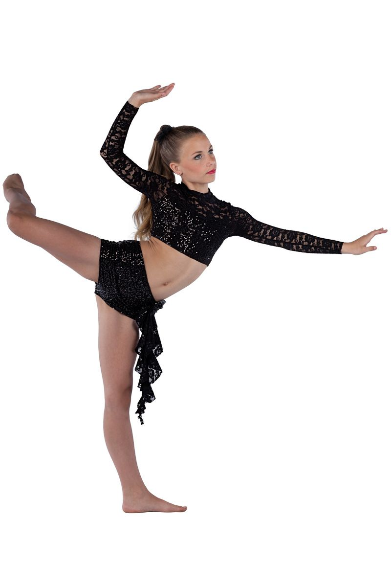 15473 Nightwing | Lyrical Contemporary Dance Costumes | Dansco 2015 | Black sequin on spandex ...