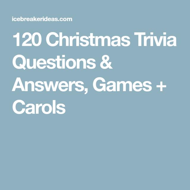 120 Christmas Trivia Questions & Answers, Games + Carols
