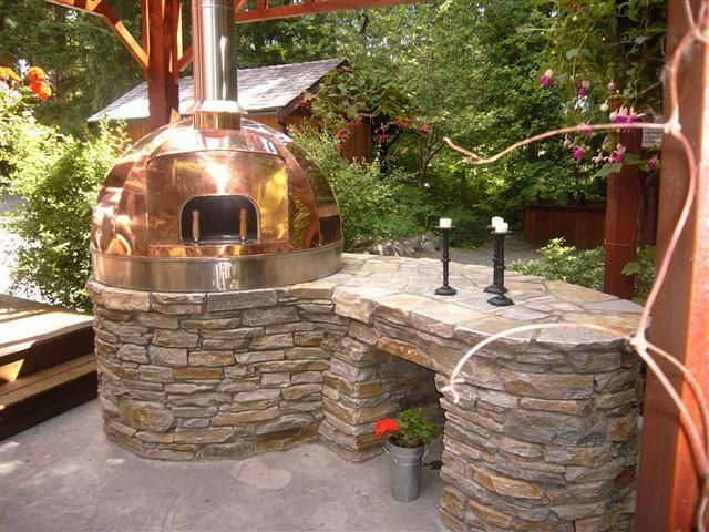 Outdoor Kitchen Copper Turnkey Oven Wood Fired Beautiful Home Cooking Outdoor Kitchen Outdoor Wood Outdoor