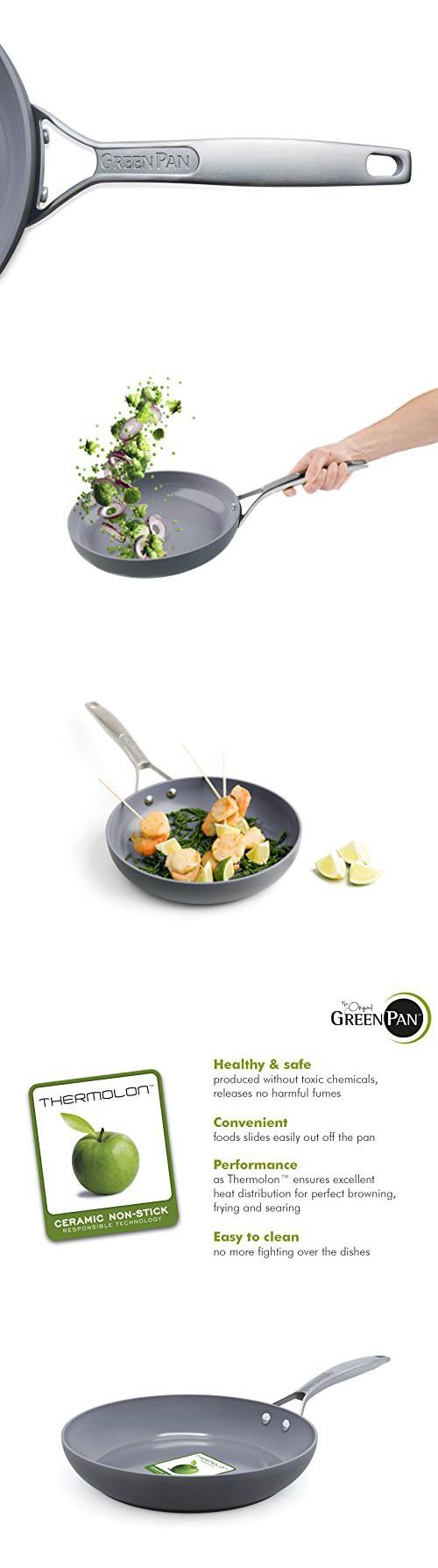 Greenpan Paris 10 Inch Ceramic Non Stick Fry Pan Woks Stir Kitchen