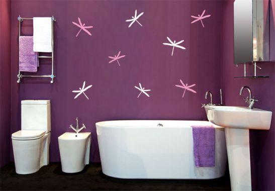 Adesivi murali decorazione per piastrelle libellule il bagno