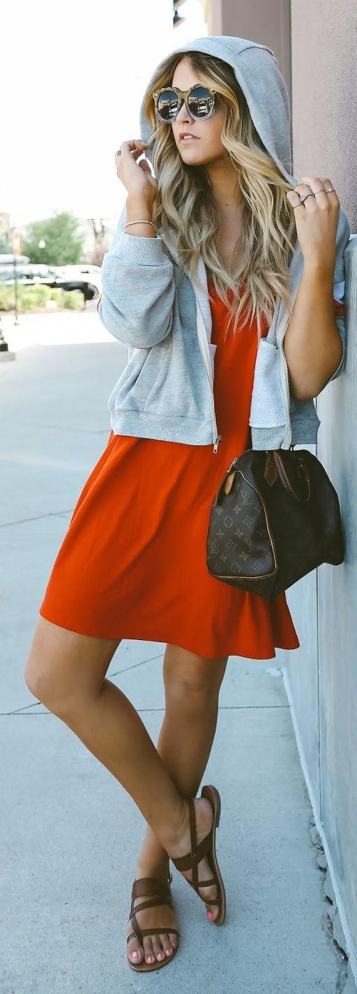 Orange And Grey Urban Uniform by Cara Loren