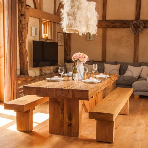 Have It Straight Chunky Oak Dining Table Solid Oak Dining Table