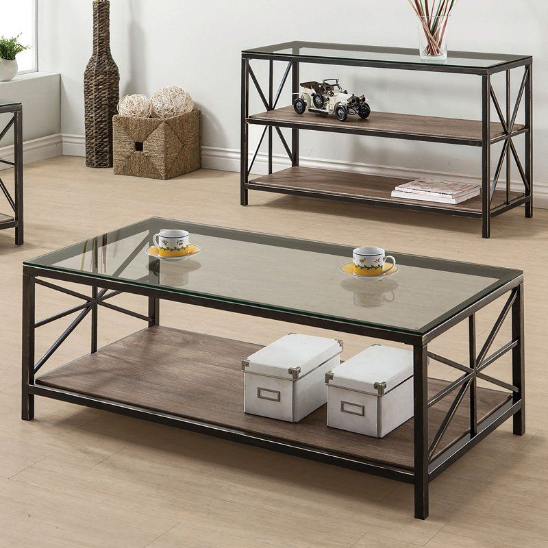 Best Coaster Furniture Glass Top Coffee Table 701398 Coffee 400 x 300