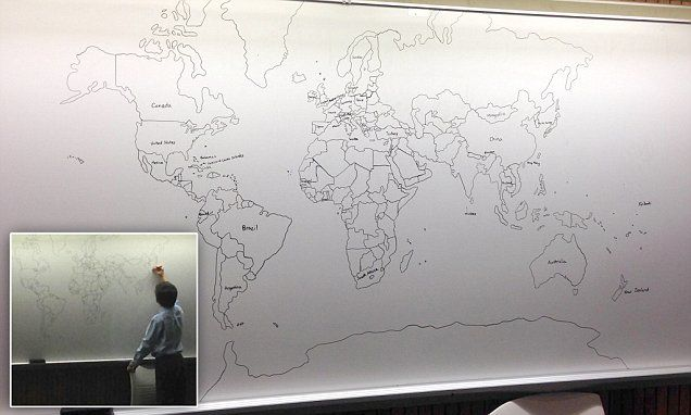11 year old boy with autism draws a perfect world map from memory 11 year old boy with autism draws a perfect world map from memory gumiabroncs Image collections