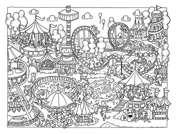 Fun At The Fair Colouring Page Download Love Coloring Pages Coloring Pages Cute Coloring Pages