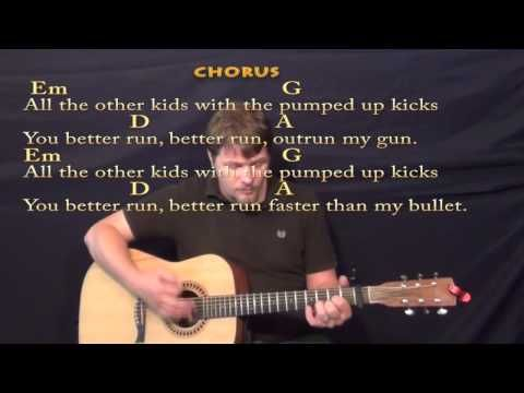 Pumped Up Kicks Strum Guitar Cover Lesson With Chords Lyrics