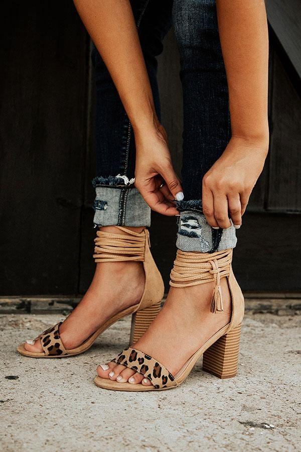 Goals Leopard Heel | Leopard heels