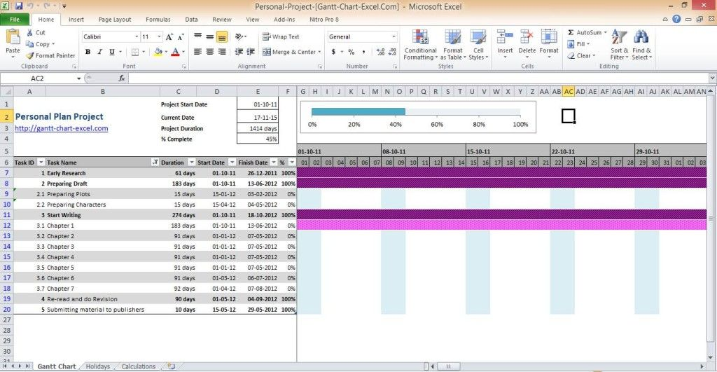 gantt-chart-excel gantt-chart-excel-2010-personal - what does a gantt chart show