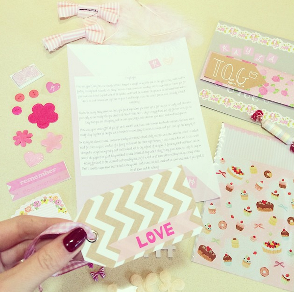 Sweet Snail Mail made by www.instagram.com/Happymail__  Find more Snail Mail ideas and penpals on http://www.snailmail-ideas.com/ or go to the webshop www.snailmailideas.etsy.com