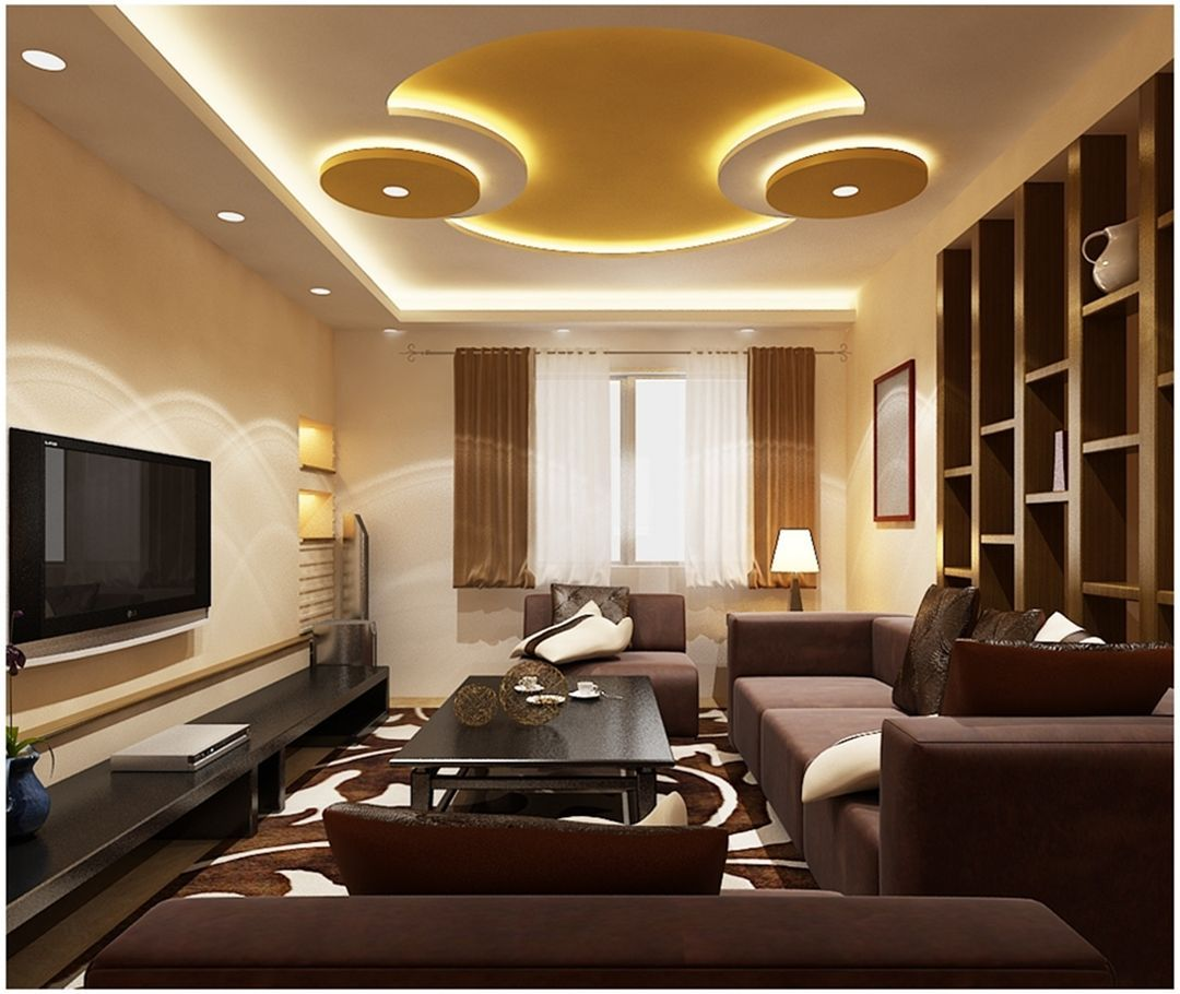 33 Amazing Living Room Ceiling Designs With Light To Look ...