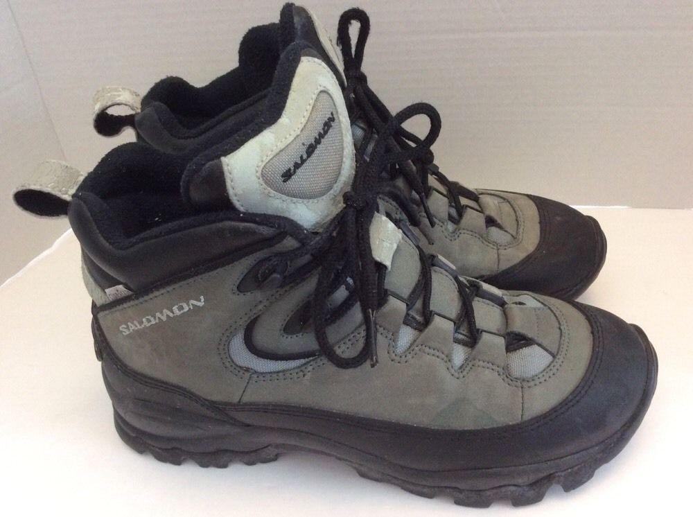 5e15823c0e Salomon Boots Contagrip 9 Clima-Dry Hiking Winter Womens Grey Black ...