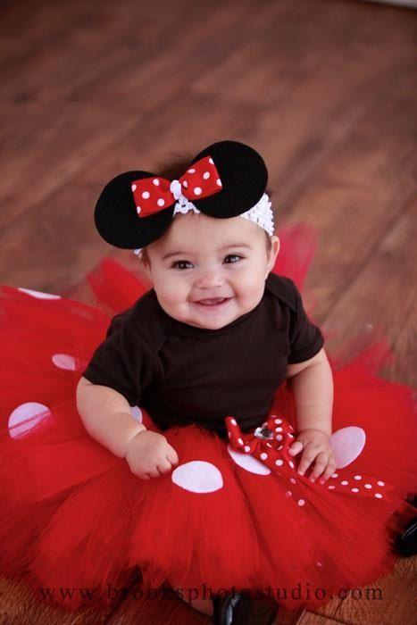 Minnie mouse tutu baby tutu and puff headband by - Disfraces para bebes de un ano ...