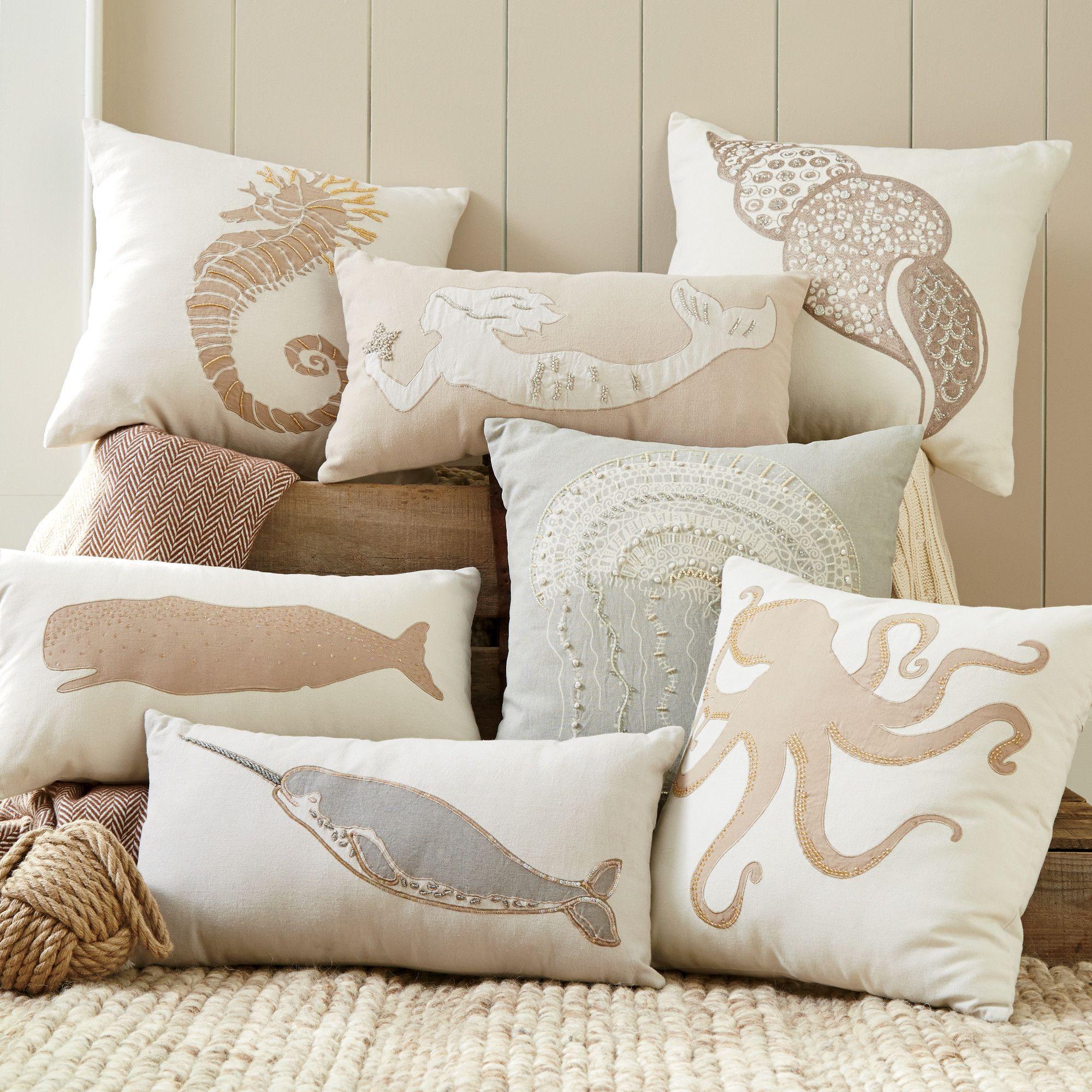 Birch Lane Marina Pillow Cover Collection  Pillows, Sea decor
