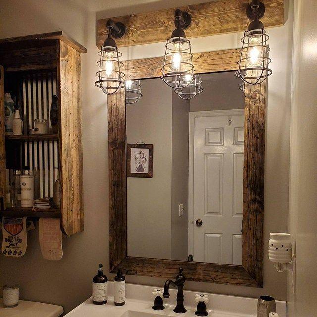 Photo of ESPRESSO Vanity Light Fixture, 2 Mason Jar Light Fixture with Shade, Wall Light, Pendant Light, Bathroom Light, Rustic, Industrial, Modern