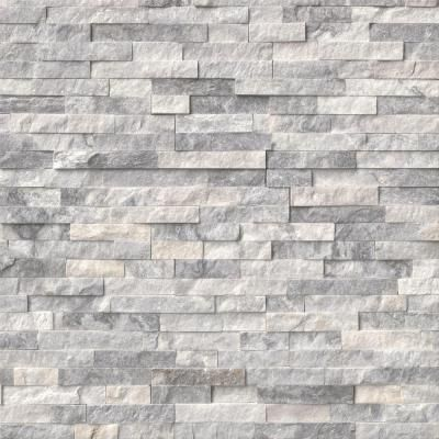 Ms International Alaska Gray Ledger Panel 6 In X 24 In Natural Marble Wall Tile Lpnlmalagry624 The Stacked Stone Fireplaces Marble Wall Tiles Stone Panels