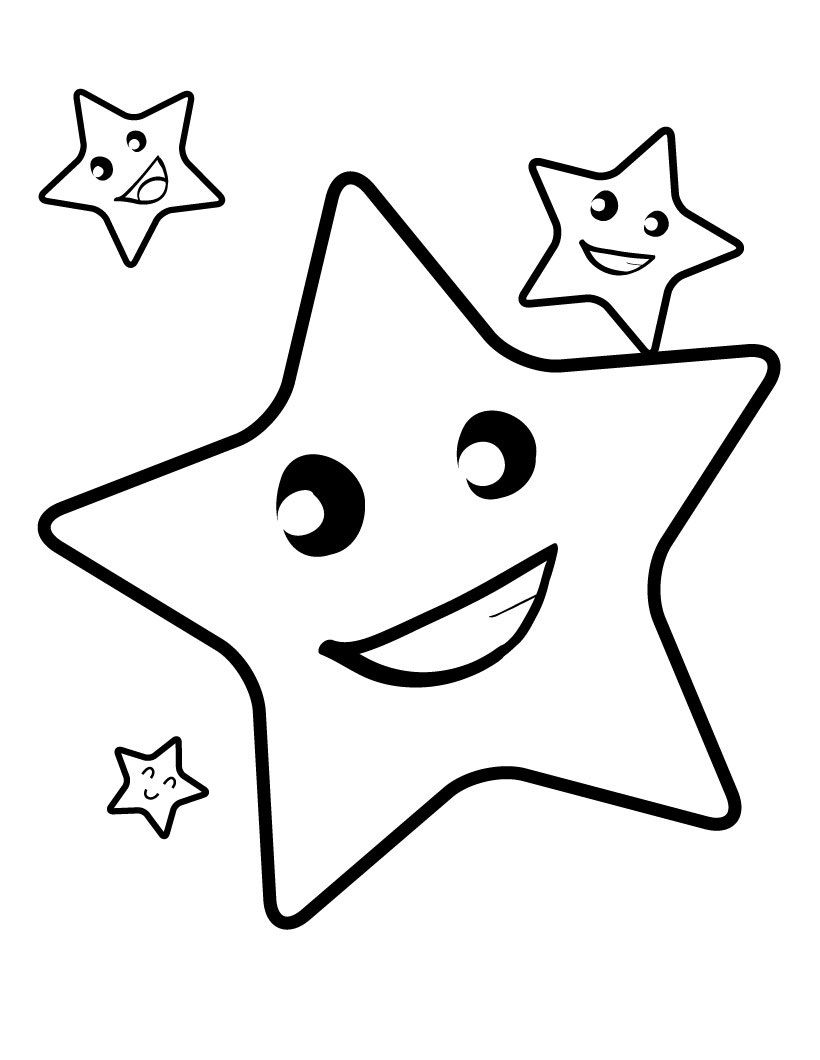 free printable star coloring pages for kids 4 kids coloring pages