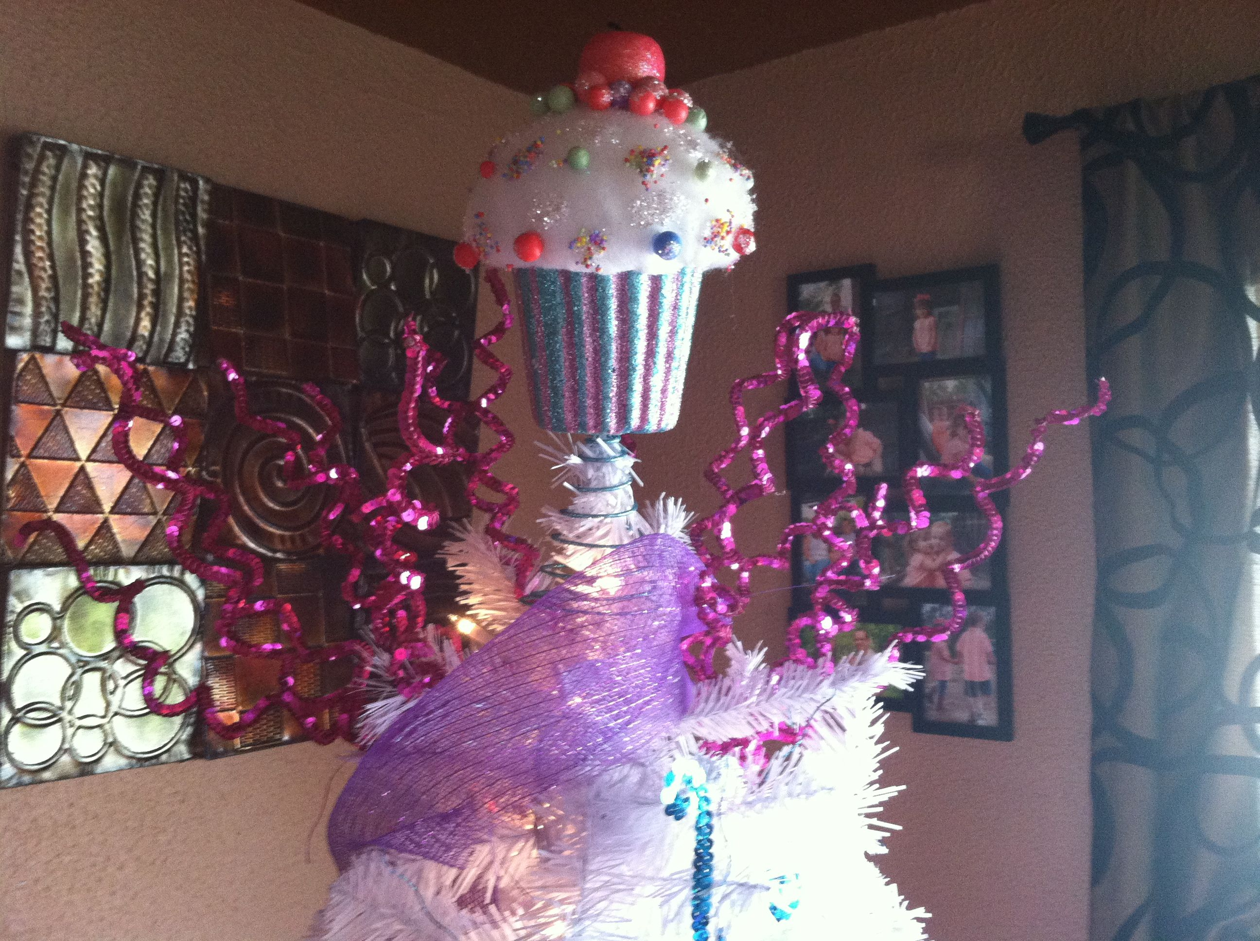 Cupcake Christmas Tree Topper Love Holiday Christmas Tree