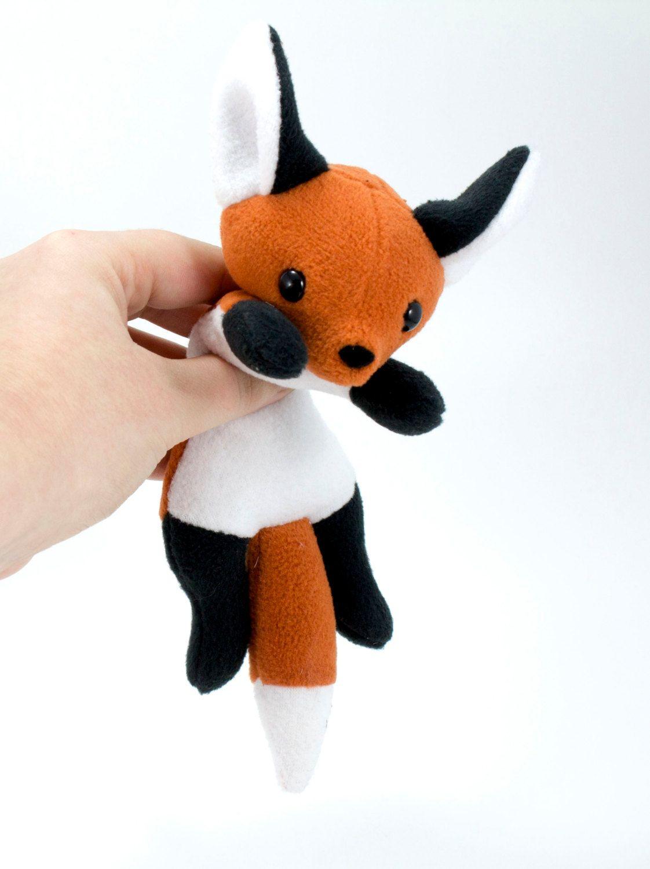 Beanie Fox Plush Toy Stuffed Animal Plushie by BeeZeeArt on Etsy ...
