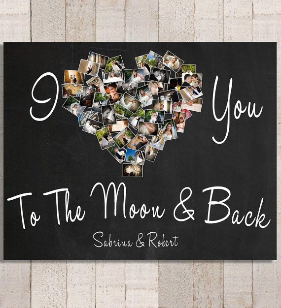 I Love You To The Moon Back Personalized Photo Gift Etsy Valentines Day Gifts For Him Valentines Diy Valentine Day Gifts