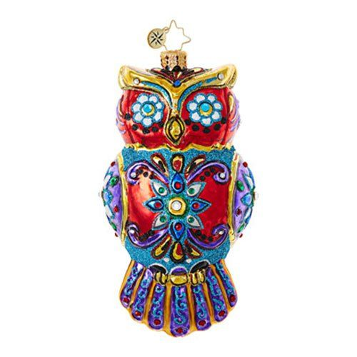 Christopher Radko Ornate Owl Halloween Christmas Ornament - halloween statues