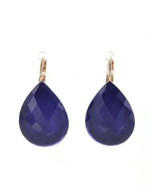 Oorbel Druppel Royal Blue van Colori shoes