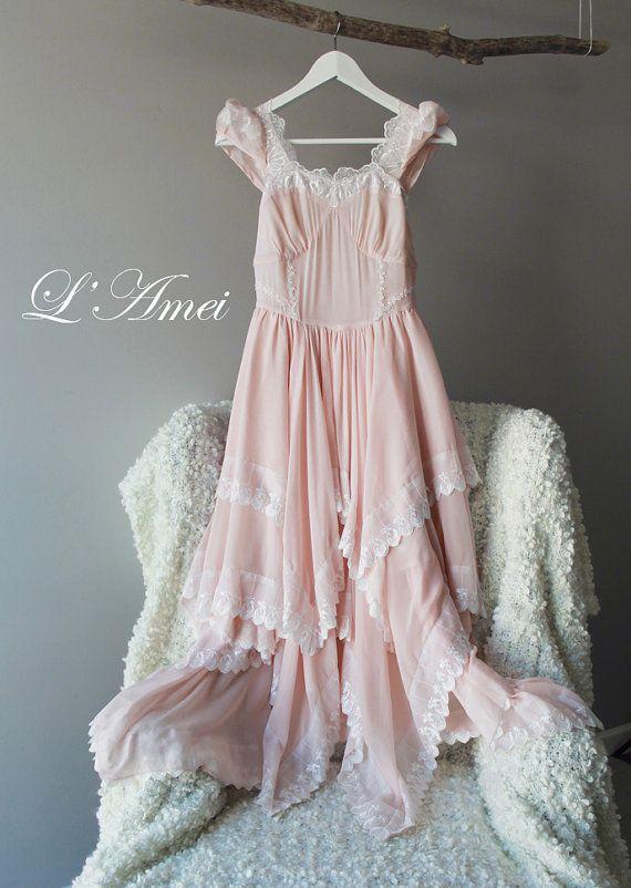 Erröten elegante romantische Woodland Hochzeit Kleid von LAmei ...