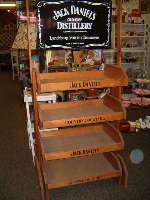 Jack Daniels Whiskey Wood Retail Shelves Liquor Store Display Double Sided  Sign