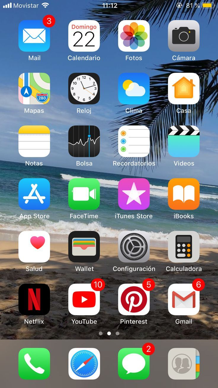 ️ planodefundo Iphone app layout, Iphone home screen