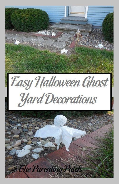 Easy Halloween Ghost Yard Decorations Yard decorations, Halloween - fun and easy halloween decorations