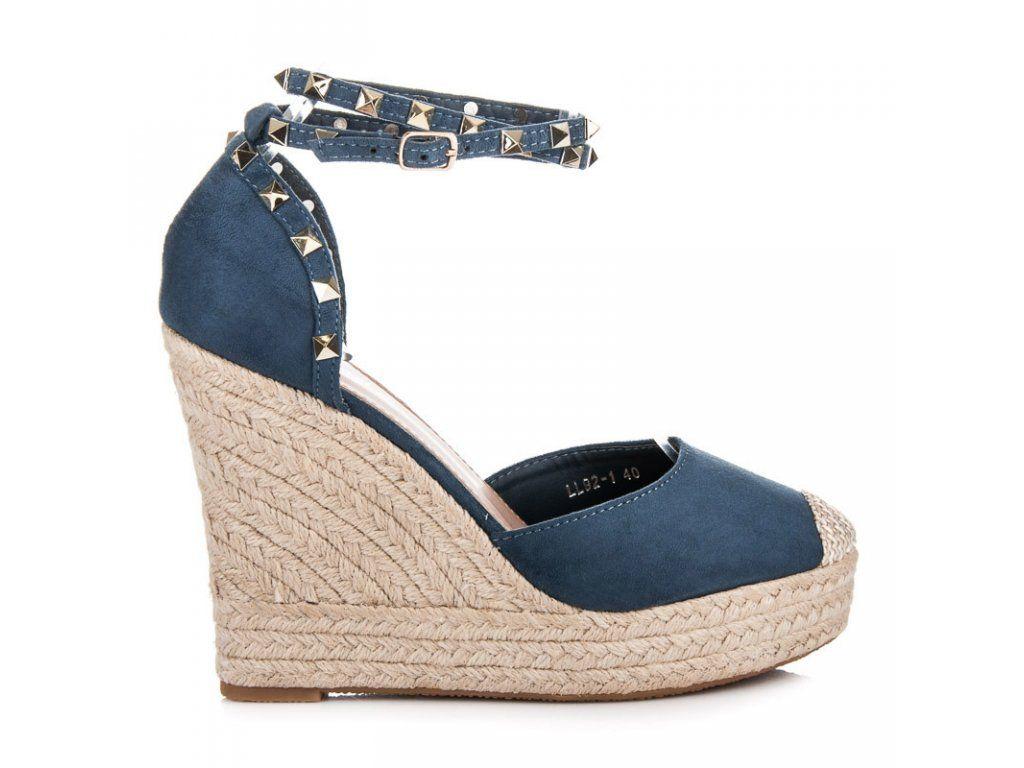 686a17ddd859 Modré sandále espadrilky AL-59BL