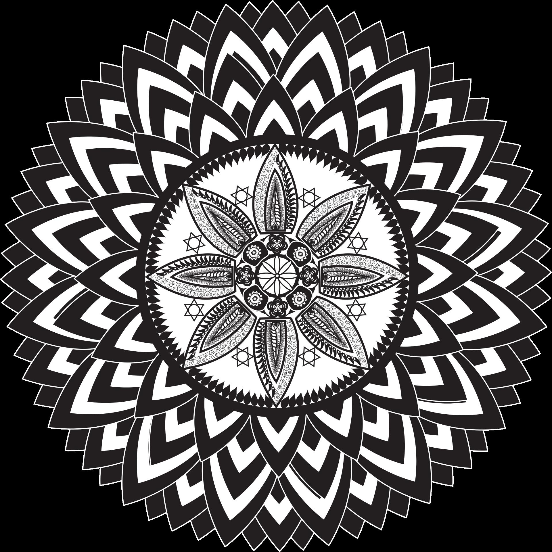 Kostenlose Malvorlagen zum herunterladen Mandala Vorlage