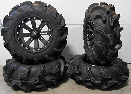 Msa Black Kore 14 Atv Wheels 28 Mega Mayhem Tires Honda Foreman Rancher Sra Atv Wheels Black Diesel Best Tire Shine