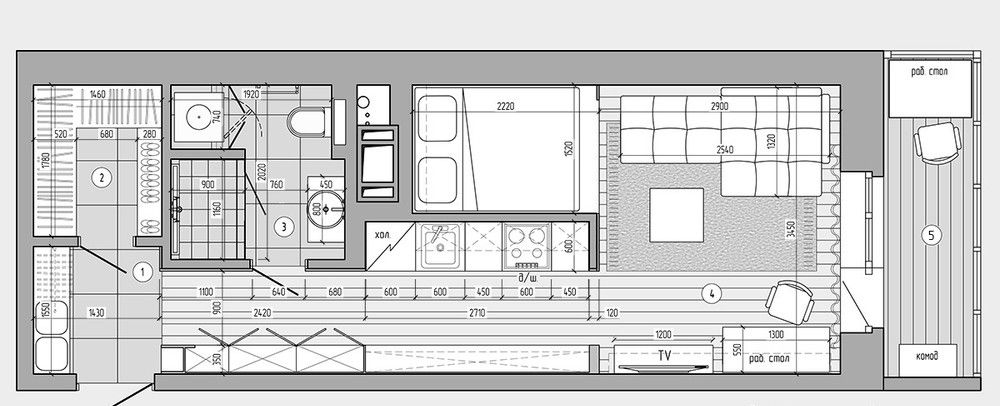 plan appartement de 30m2