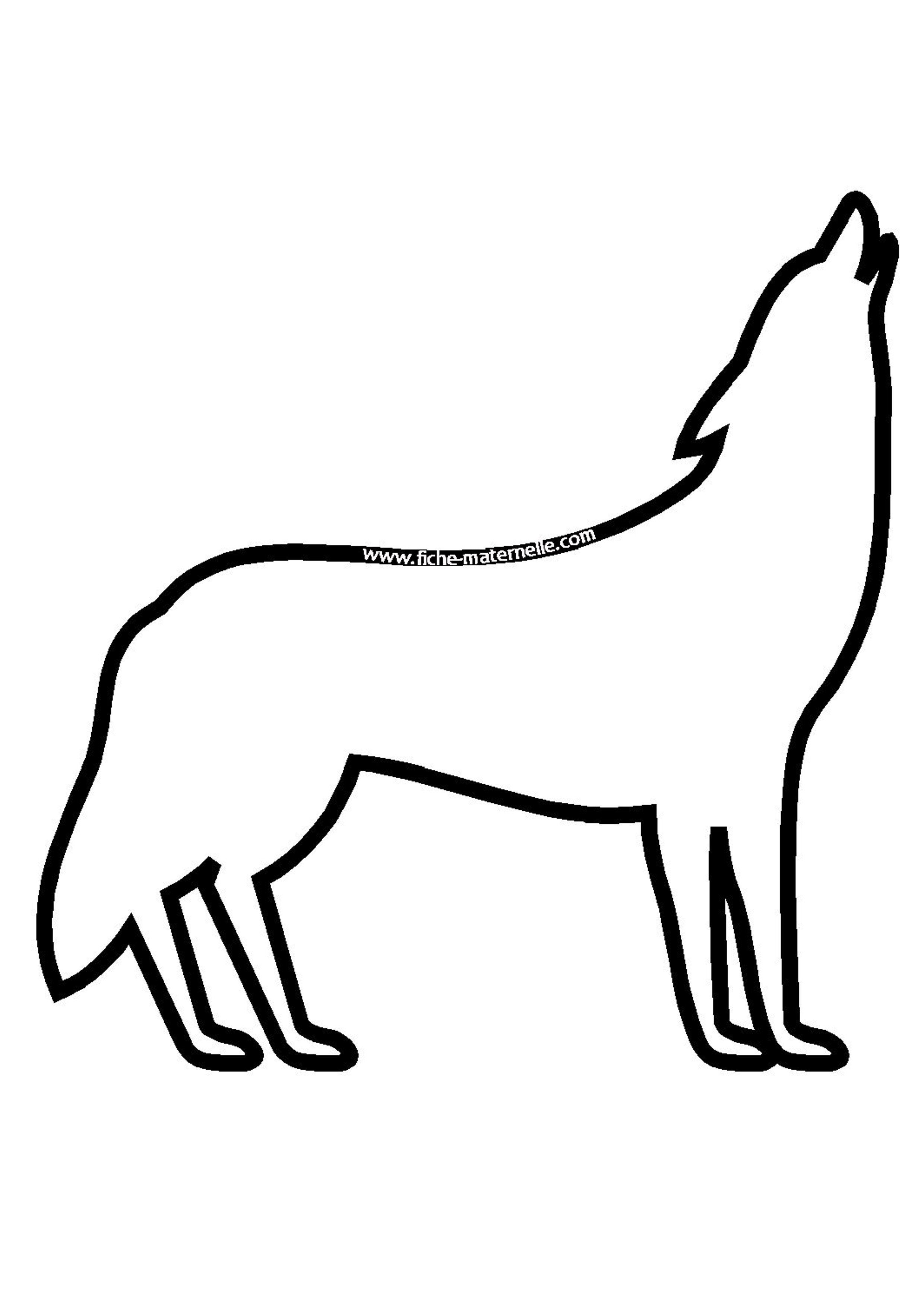 11 Simpliste Coloriage Loup Maternelle Image Coloriage Loup