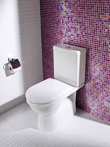 Decorating With Purple Purple Bathrooms Mosaic Bathroom Tile