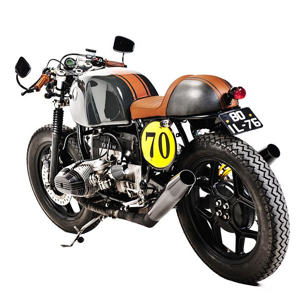"Yellow. Black. Brown. From another angle. : BMW R80 : ""Dark Law"""