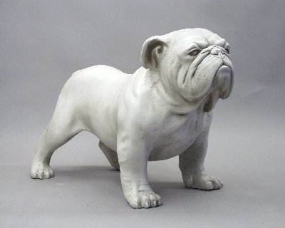 Well-known Bulldog realistic statue sculpture life size | English bulldogs  GK21