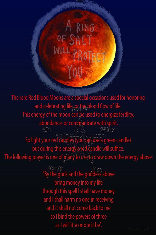 Super Blood Moon Eclipse   Wiccan   Blood moon rituals, Moon spells