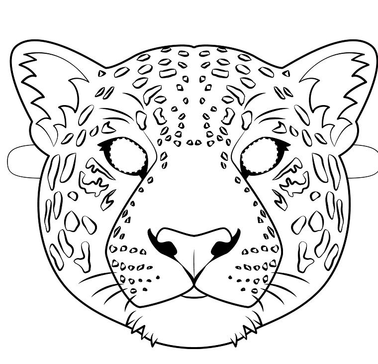 Maschere Per Bambini Travestimento Da Giaguaro Disegno Da Ritagliare Maschere Disegno Viso Cartoni Animati