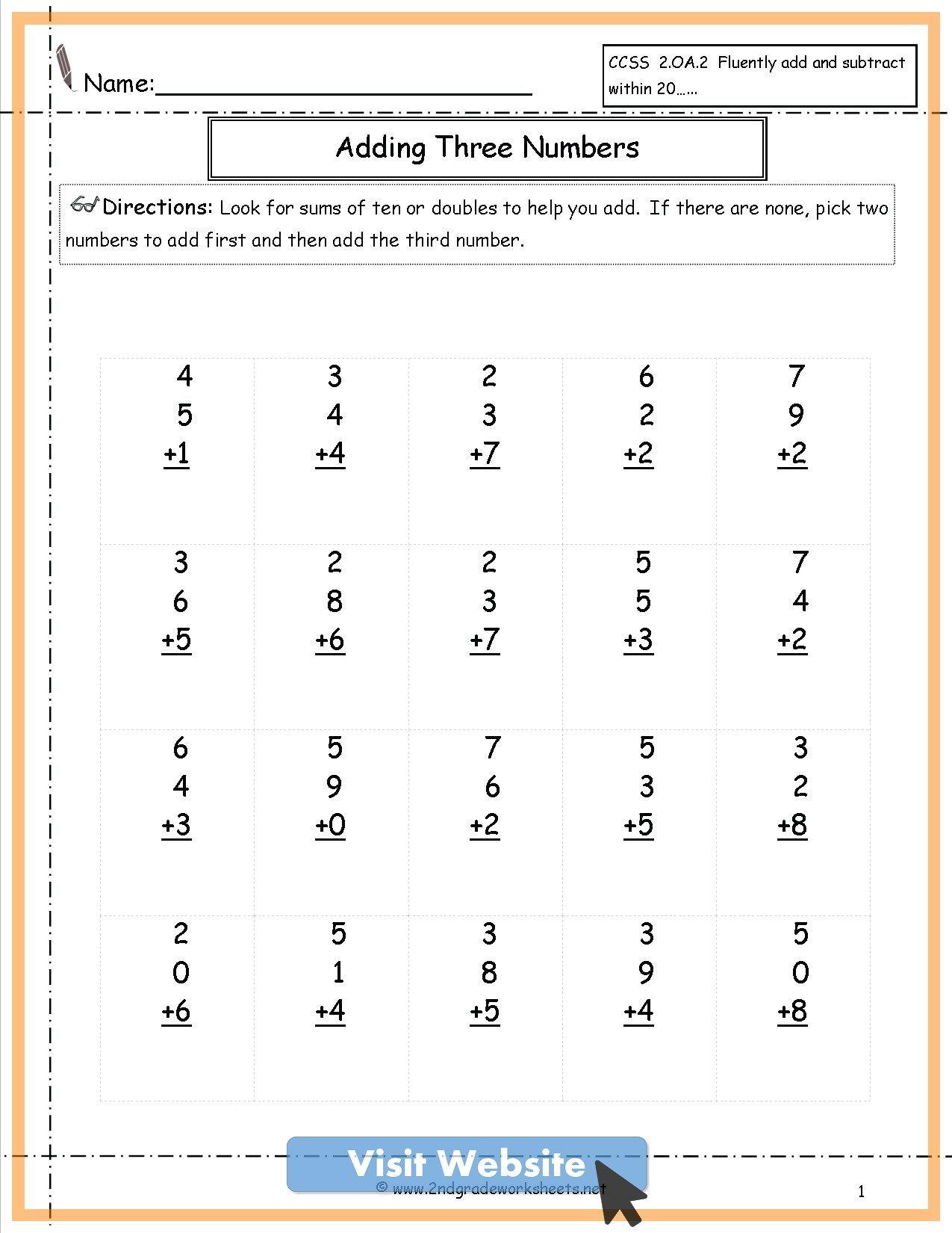 First Grade Math Freebies Worksheets In 2020 Math Freebie Math Worksheet Math Lessons