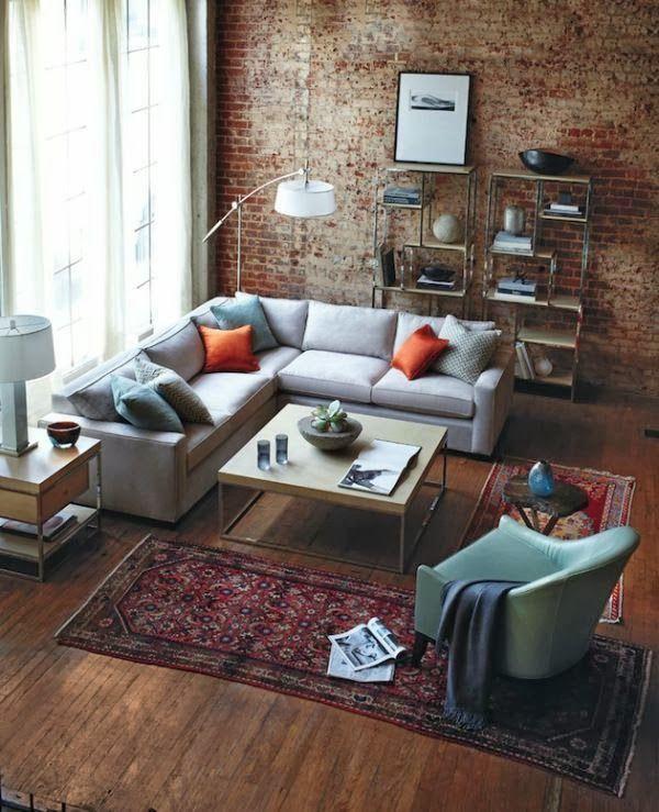 2hands Brick Wall Small Apartment Design Apartment Living Room Apartment Design