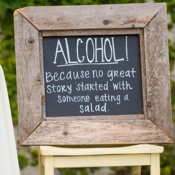 Wedding Reception Signs Ideas: Wedding Bar Guide: How Much Alcohol Do You Need?