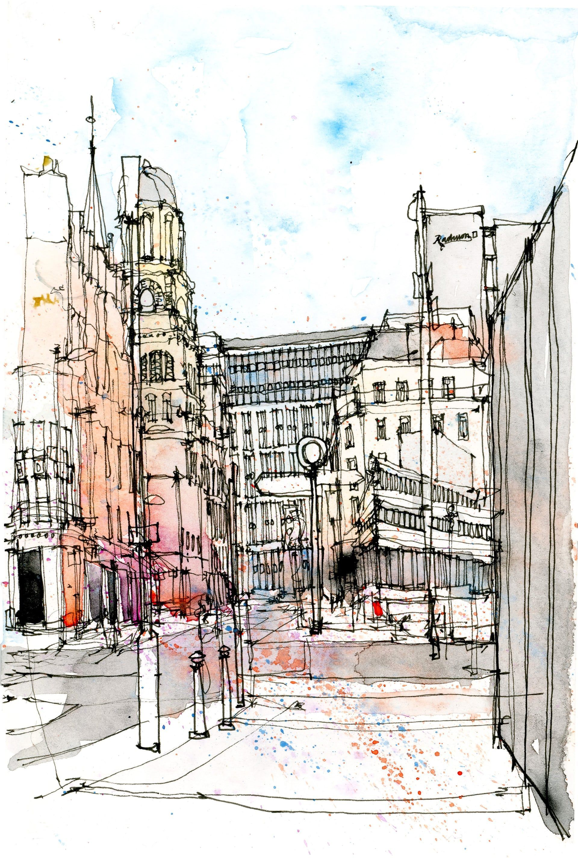 Sketch in the city: the artist capturing urban clutter – in pictures